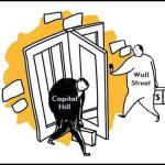 Washington and Wall Street's Revolving Door Illustration