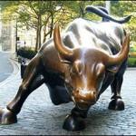 Wall Street Bull Statue in Lower Manhattan