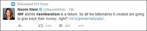 Naomi Klein Tweet