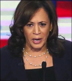 Senator Kamala Harris, Speaking at the Second Democratic Presidential Debate in Miami on June 27, 2019