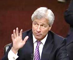 Jamie Dimon Testifying at Senate Banking Hearing June 13, 2012, Adorned With His Presidential Cuff Links