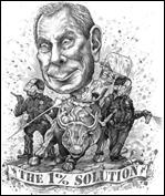 Illustration by Keith Seidel from Mike! Wall Street's Mayor by Neil Fabricant