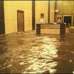 During Hurricane Sandy, Photo of Lobby of 140 West Street in Lower Manhattan, Released by New York State Governor Andrew Cuomo