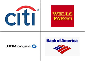Big Four Bank Logos