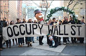Occupy Wall Street's People Puppets Marching in Manhattan