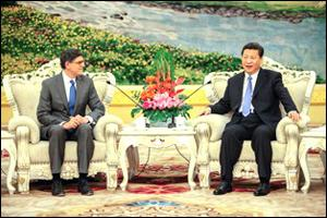Treasury Secretary Jack Lew Meets With Chinese President  Xi Jinping on March 25, 2013 in China