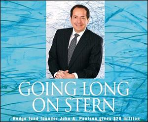 John Paulson, Hedge Fund Manager, Is Praised in the 2010 Spring/Summer Issue of the Alumni Magazine of the Stern School of Business