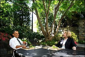 President Obama Lunches With Hillary Clinton, July 29, 2013. (Official White House Photo by Chuck Kennedy)
