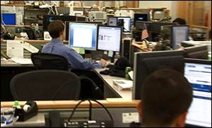 Photo of the Trading Floor at the New York Fed (Obtained by Wall Street On Parade from an Educational Video Despite Stonewalling by the New York Fed)