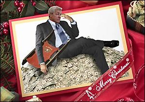 Stephen Colbert Suggested This Christmas Card for Jamie Dimon