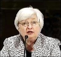 Janet Yellen Testifying Before the Senate Banking Committee on July 15, 2014