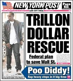 New York Post Cover, September 20, 2008