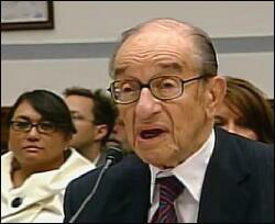 Alan Greenspan, Former Fed Chairman, Testifying to the House Oversight Committee on How He Got It Wrong, October 23, 2008