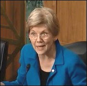 Senator Elizabeth Warren Questions Panel Members at the March 3, 2015 Hearing on Fed Accountability and Reform