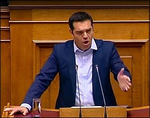 Alexis Tsipras, Prime Minister of Greece, Asks Parliament for Referendum on July 5, 2015