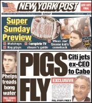 February 1, 2009 Cover of the New York Post