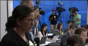 Ann Saphir, Reuters, Asking Question at Janet Yellen's Press Conference, September 17, 2015