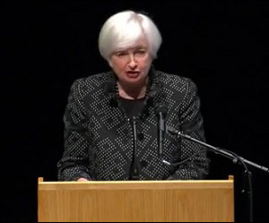 Fed Chair Janet Yellen Speaking at University of Massachusetts-Amherst on September 24, 2015