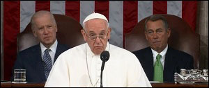Pope Francis Addresses a Joint Session of Congress on September 24, 2015