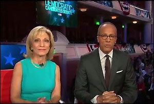 Andrea Mitchell and Lester Holt Moderating the January 17, 2016 Democratic Debate on NBC