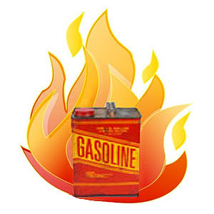 Gasoline Can With Fire