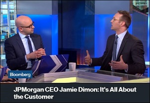 Bloomberg's Jonathan Ferro (left) and Joel Weber Discuss Jamie Dimon's Dedication to His Customers