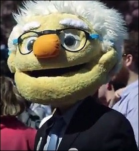 Bernie Sanders Costumed Marcher