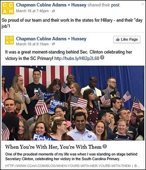 CCAH Team Is All In for Hillary Clinton