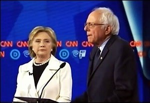 Hillary Clinton Tells Senator Bernie Sanders That There's No Evidence She Can Be Swayed by Wall Street Money During CNN Debate, April 14, 2016