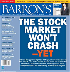 Barron's Front Cover, May 30, 2016