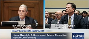 Congressman Trey Gowdy, a Former Federal Prosecutor, Questions FBI Director James Comey at a House Oversight Hearing on July 7, 2016