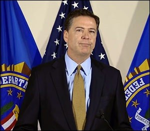 FBI Director, James Comey, Delivering Report on Hillary Clinton's Emails, July 5, 2016