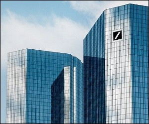 Deutsche Bank Headquarters in Frankfurt, Germany