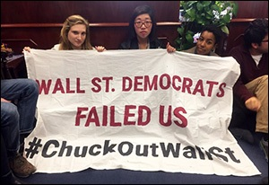 Protesters Camp Out in Senator Chuck Schumer's Capitol Hill Office, November 14, 2016