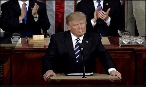 President Donald Trump Addresses a Joint Session of Congress, February 28, 2017