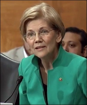 Senator Elizabeth Warren Grills Treasury Secretary Stephen Mnuchin on His Flip Flop on Reinstating the Glass-Steagall Act