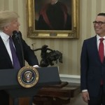 Steven Mnuchin Is Sworn In as U.S. Treasury Secretary by Donald Trump on February 13, 2017