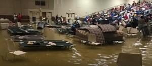 Flooded Shelter in Port Arthur, Texas