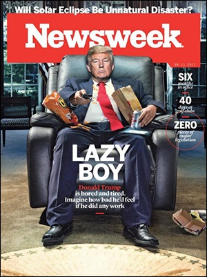 Newsweek Cover -- Lazy Boy Donald Trump