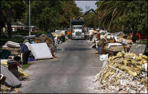 Photo in Today's Houston Chronicle of Refuse Still Awaiting Pickup in Houston Following Devastation from Hurricane Harvey