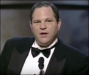 "Harvey Weinstein Accepting an Oscar for ""Shakespeare in Love"" at 1999 Academy Awards"