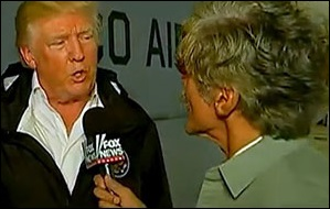 President Donald Trump Is Interviewed by Geraldo Rivera__ of__ Fox News During His Visit to Puerto Rico, October 3, 2017