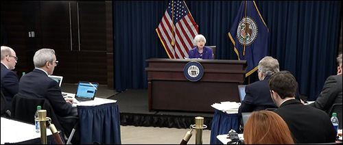 Outgoing Fed Chair Janet Yellen Holds Her Last Press Conference on December 13, 2017