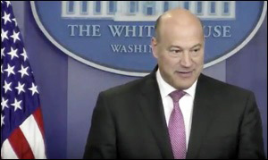 Gary Cohn Discusses the Trip to Davos at White House Press Briefing, January 23, 2018