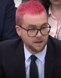 Christopher Wylie, the Cambridge Analytica Whistleblower, Testifies Before British Lawmakers on Tuesday, March 27, 2018