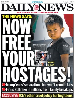 New York Daily News Front Page, June 21, 2018