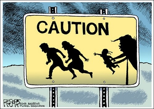 One of Numerous Trump Cartoons by Rob Rogers that Were Censored by His Newspaper, the Pittsburgh Post-Gazette