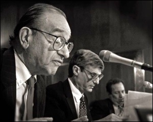 Alan Greenspan, Robert Rubin, Larry Summers, architects of collapse