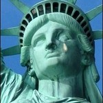 Statue Of Liberty With Tear-150pix