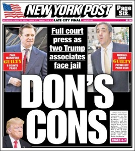 New York Post Front Cover, August 22, 2018